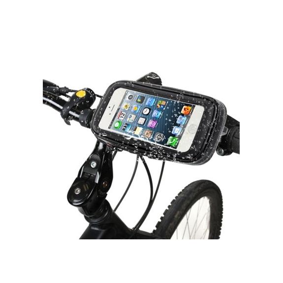 AppleKing voděodolné pouzdro s držákem na kolo / motorku pro Apple iPhone 5 / 5C / 5S / SE - černé - možnost vrátit zboží ZDARMA do 30ti dní