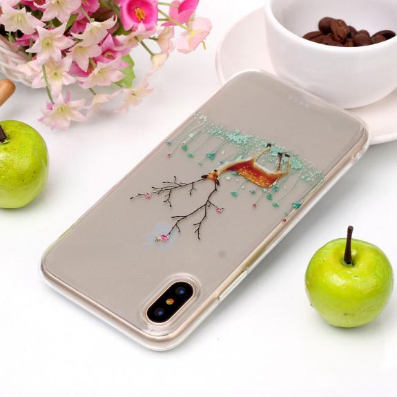 AppleKing ochranný kryt na iPhone XS / iPhone X - se srnkou - možnost vrátit zboží ZDARMA do 30ti dní