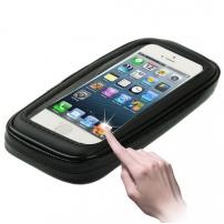 Voděodolné pouzdro s držákem na kolo / motorku pro Apple iPhone 5 / 5C / 5S / SE - černé