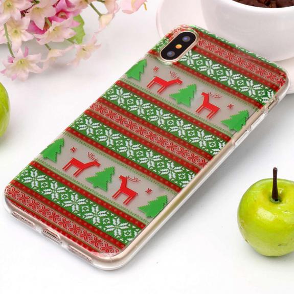 AppleKing ochranný kryt pro iPhone XS / iPhone X - vánoční stromečky - možnost vrátit zboží ZDARMA do 30ti dní