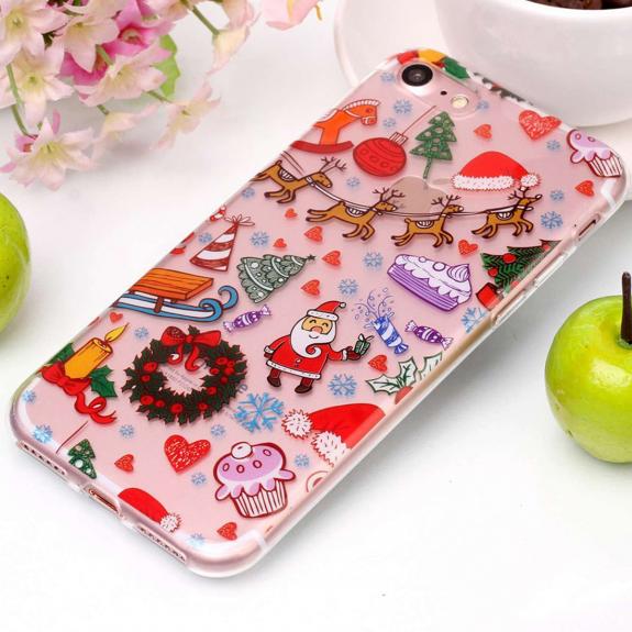 AppleKing ochranný kryt pro iPhone 8 a 7 - se Santa Clausem a vánočními ozdobami - možnost vrátit zboží ZDARMA do 30ti dní