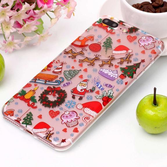 AppleKing ochranný kryt pro iPhone 8 Plus a 7 Plus - se Santa Clausem a vánočními ozdobami - možnost vrátit zboží ZDARMA do 30ti dní