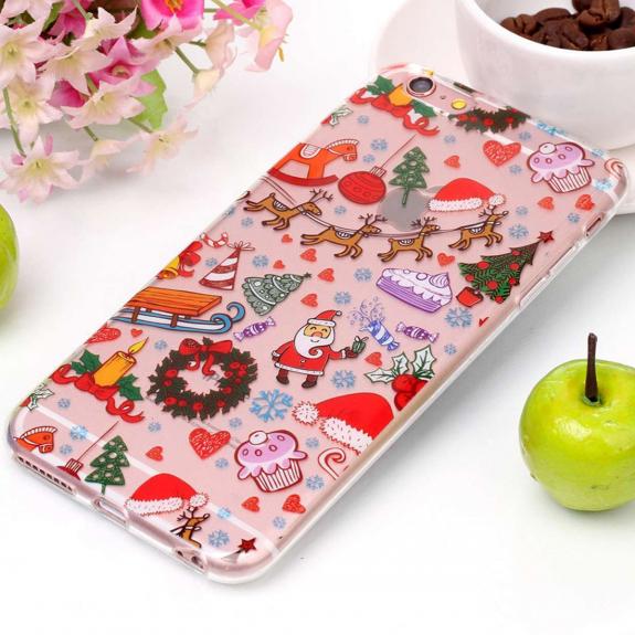 AppleKing ochranný kryt pro iPhone 6 Plus a 6S Plus - se Santa Clausem a vánočními ozdobami - možnost vrátit zboží ZDARMA do 30ti dní