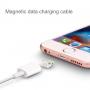 Magnetický nabíjecí kabel lightning pro iPhone / iPad / iPod - bílý - 1m