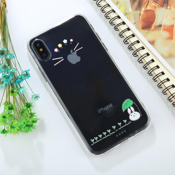 AppleKing kryt pro iPhone XS / iPhone X - s králíčkem - možnost vrátit zboží ZDARMA do 30ti dní