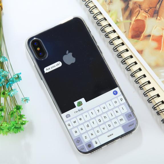 AppleKing ochranný kryt pro iPhone XS / iPhone X - klávesnice - možnost vrátit zboží ZDARMA do 30ti dní