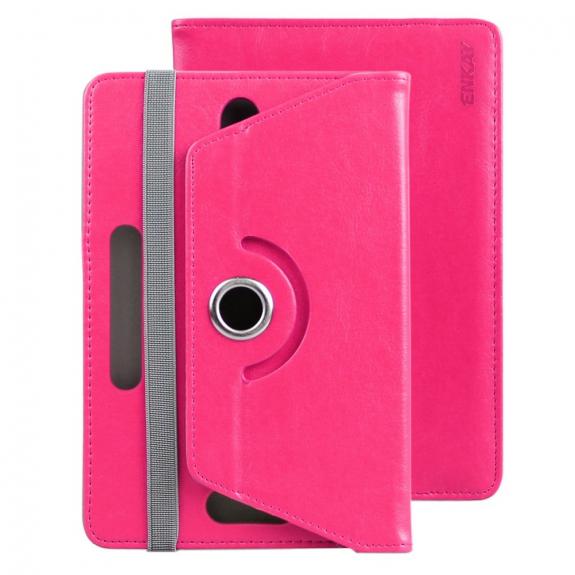 Enkay pouzdro se stojánkem na iPad mini 4 / 5 - tmavě růžové - možnost vrátit zboží ZDARMA do 30ti dní