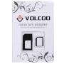 Redukce z Nano SIM karty na Micro SIM a na standardní SIM kartu pro iPhone 4 / 4S / 3G / 3GS - černá
