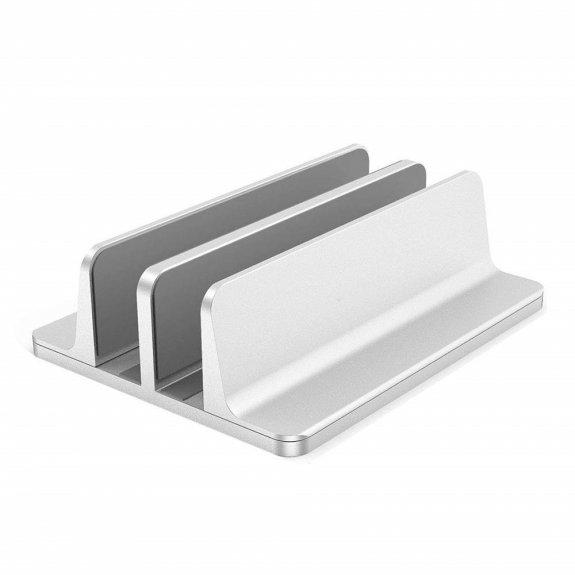 AppleKing odkládací dvojitý stojan s nastavitelnou šířkou pro MacBook / iPad - stříbrný - možnost vrátit zboží ZDARMA do 30ti dní