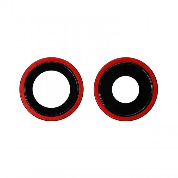 AppleKing náhradní ocelový kruh zadní kamery pro Apple iPhone 11 - červená - možnost vrátit zboží ZDARMA do 30ti dní