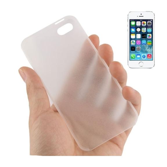 Ultra tenký (0.3mm) poloprůhledný matný kryt pro iPhone 5 / 5S / SE - bílý