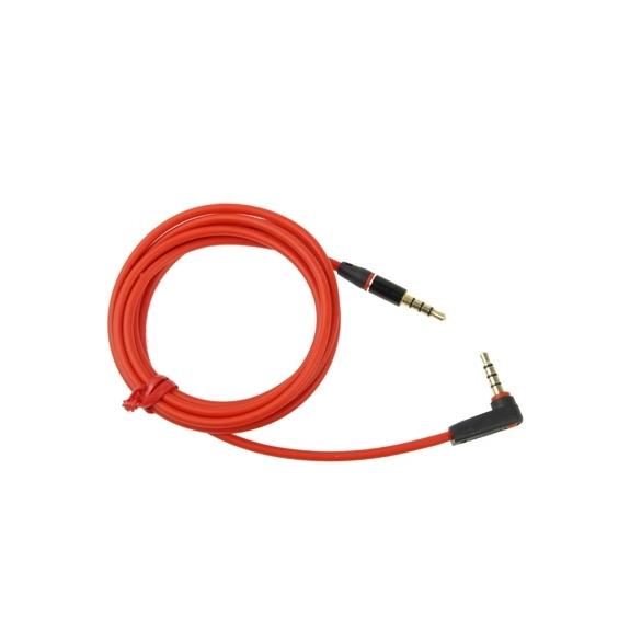Propojovací audio kabel 3.5mm jack s kolínkem pro iPhone / iPad / iPod / MP3 - 1.2m červený