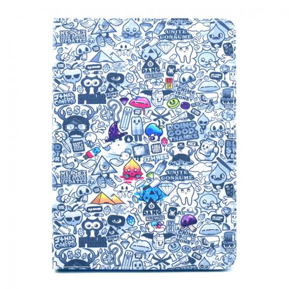 AppleKing ochranný obal se stojánkem pro iPad mini 4 / 5 - kreslený chaos - možnost vrátit zboží ZDARMA do 30ti dní