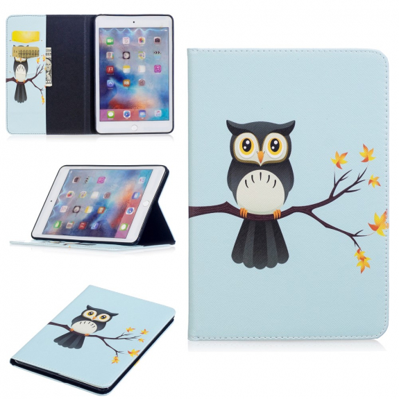 AppleKing pouzdro / kryt s integrovaným stojánkem pro iPad mini 4 / 5 - sova - možnost vrátit zboží ZDARMA do 30ti dní