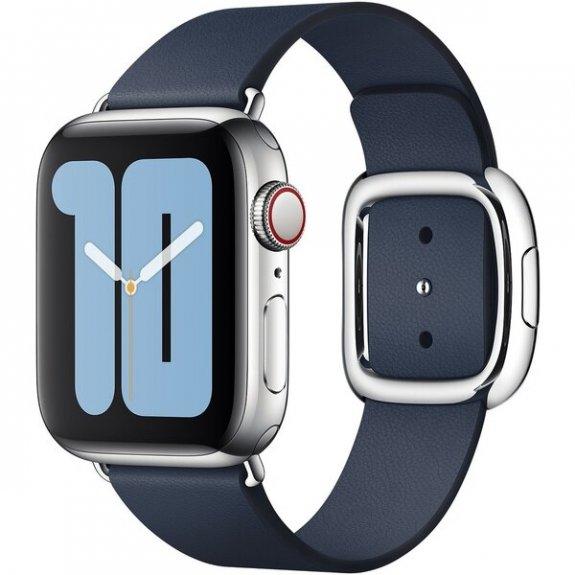 Originální kožený řemínek s moderní přezkou pro Apple Watch 40mm / 38mm - vel. S - hlubinně modrý MXPD2ZM/A - možnost vrátit zboží ZDARMA do 30ti dní