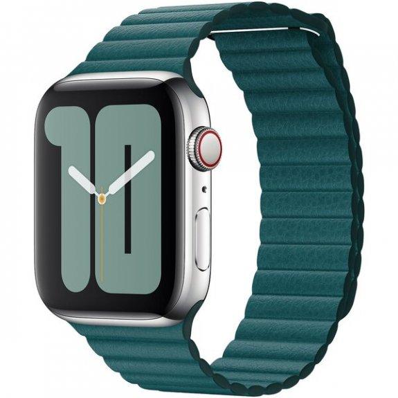 Originální kožený řemínek pro Apple Watch 44mm / 42mm - vel. M - ledňáčkově tyrkysový MXPM2ZM/A - možnost vrátit zboží ZDARMA do 30ti dní