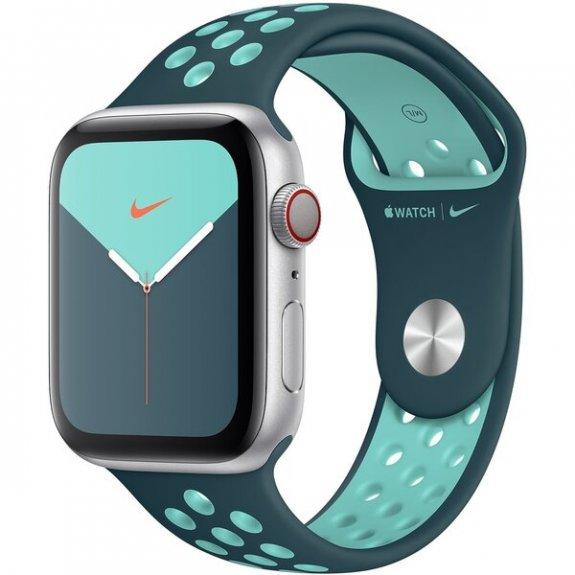 Nike sportovní řemínek pro Apple Watch 44mm / 42mm - midnight turquoise / aurora green MXR12ZM/A - možnost vrátit zboží ZDARMA do 30ti dní
