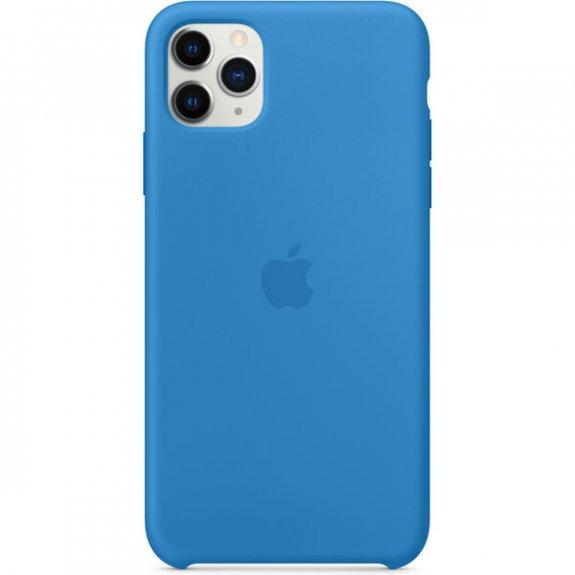 Apple silikonový kryt pro iPhone 11 Pro Max - příbojově modrý MY1J2ZM/A - možnost vrátit zboží ZDARMA do 30ti dní