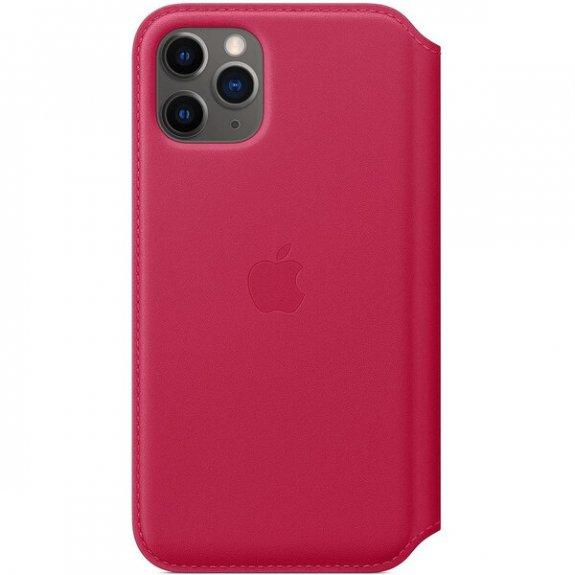 Apple Folio originální kožené pouzdro pro iPhone 11 Pro - malinové MY1K2ZM/A - možnost vrátit zboží ZDARMA do 30ti dní