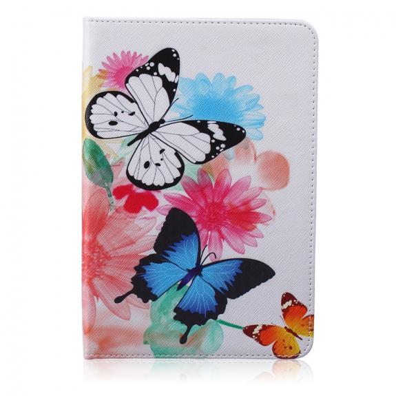 AppleKing pouzdro / kryt s integrovaným stojánkem pro iPad mini 4 / 5 - barevní motýlci - možnost vrátit zboží ZDARMA do 30ti dní
