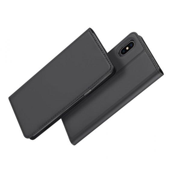 DUX DUCIS Pouzdro se stojánkem a přihrádkami na doklady pro Apple iPhone XS / iPhone X - šedá - možnost vrátit zboží ZDARMA do 30ti dní