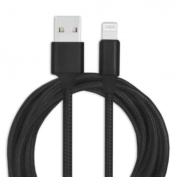AppleKing opletený kabel Lightning - 1 m - černý - možnost vrátit zboží ZDARMA do 30ti dní