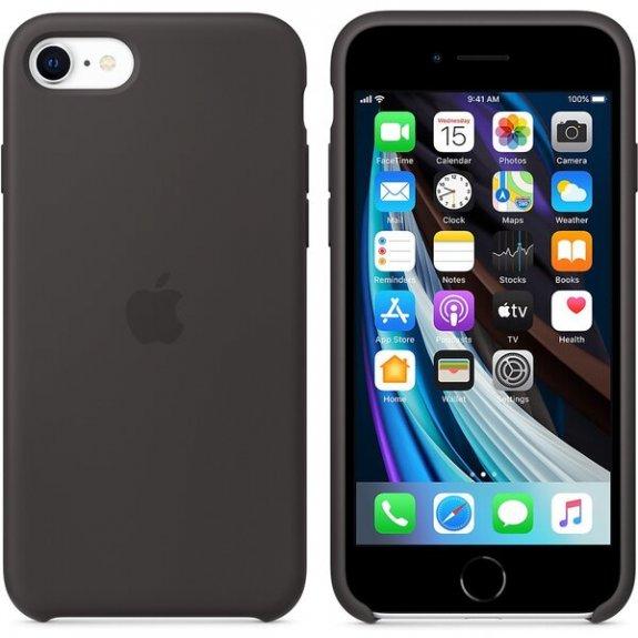 Apple originální silikonový kryt pro iPhone SE (2020) - černý MXYH2ZM/A - možnost vrátit zboží ZDARMA do 30ti dní