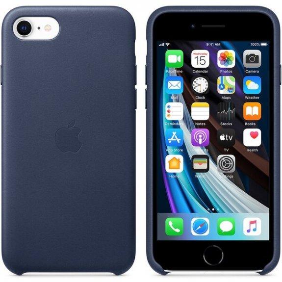 Apple originální kožený kryt pro iPhone SE (2020) - půlnočně modrý MXYN2ZM/A - možnost vrátit zboží ZDARMA do 30ti dní