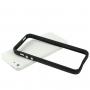 Ochranný plastový rámeček / bumper pro iPhone 5 / 5S / SE - černý
