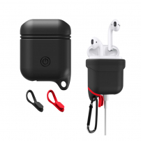 Voděodolný a prachuodolný silikonový ochranný obal pro Apple AirPods  - černá