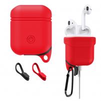 Voděodolný a prachuodolný silikonový ochranný obal pro Apple AirPods  - červená