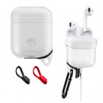 Voděodolný a prachuodolný silikonový ochranný obal pro Apple AirPods  - bílá