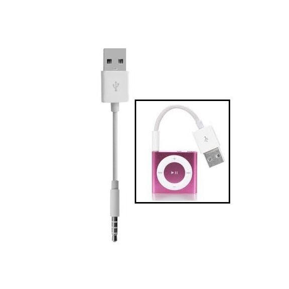 Synchronizační a nabíjecí kabel pro iPod shuffle - 10cm - bílý