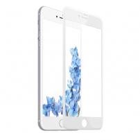 BASEUS tvrzené 3D sklo pro celý obvod telefonu pro iPhone 8 / 7 - 0.2mm - bílá