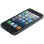 Ultra tenký (0.3mm) poloprůhledný matný kryt pro iPhone 5 / 5S / SE - černý
