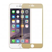 Tvrzené 3D sklo na celý obvod telefonu pro iPhone 6S / 6 - 0.3mm - zlatá