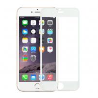 Tvrzené 3D sklo na celý obvod telefonu pro iPhone 6S / 6 - 0.3mm - bílá