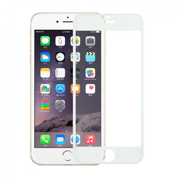 AppleKing tvrzené 3D sklo na celý obvod telefonu pro iPhone 6S / 6 - 0.3mm - bílá - možnost vrátit zboží ZDARMA do 30ti dní