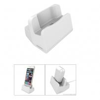 Univerzální dokovací stanice a stojánek s lightning konektorem pro Apple iPhone / iPad / AirPods / Magic Mouse - stříbrná