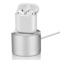 Hliníková dokovací stanice s lightning konektorem pro Apple iPhone/ iPad / AirPods / Magic Mouse - stříbrná