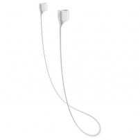 BASEUS silikonový magnetický držák proti ztrátě Apple AirPods - bílá