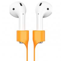 BASEUS silikonový magnetický držák proti ztrátě Apple AirPods - oranžová