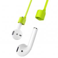 BASEUS silikonový magnetický držák proti ztrátě Apple AirPods - zelená