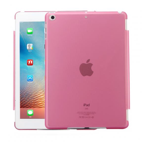 """AppleKing ochranný obal z tvrzeného plastu pro iPad 9.7"""" (2017/2018) / iPad Air - růžová - možnost vrátit zboží ZDARMA do 30ti dní"""