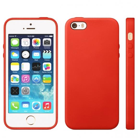 AppleKing kryt v originálním Apple designu pro iPhone 5 / 5S / SE - červený - možnost vrátit zboží ZDARMA do 30ti dní