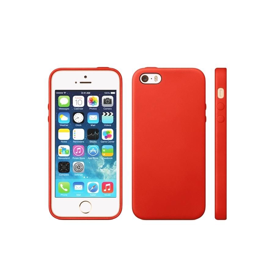 3b21f071e6 Kryt v originálním Apple designu pro iPhone 5   5S   SE - červený ...