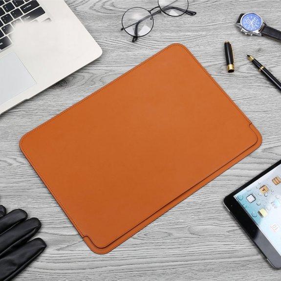 Totudesign obálka z PU kůže pro MacBook (30,5 x 22 cm) - hnědá - možnost vrátit zboží ZDARMA do 30ti