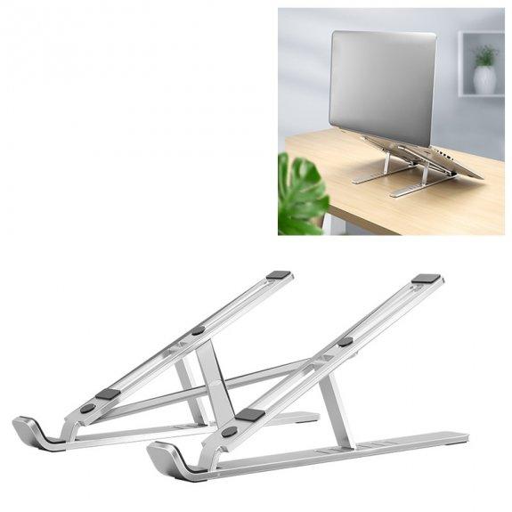 Lingchen hliníkový držák na MacBook s nastavitelným sklonem - stříbrný - možnost vrátit zboží ZDARMA do 30ti dní
