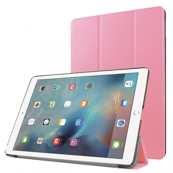 """AppleKing smart Cover s funkcí uspání pro Apple iPad Pro 9.7"""" / iPad Air 2 - růžová - možnost vrátit zboží ZDARMA do 30ti dní"""