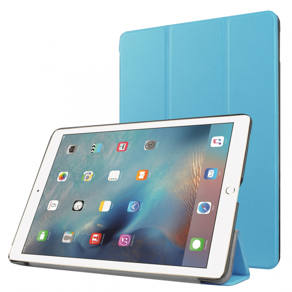 """AppleKing smart Cover s funkcí uspání pro Apple iPad Pro 9.7"""" / iPad Air 2 - modrá - možnost vrátit zboží ZDARMA do 30ti dní"""